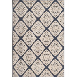 Ford 4'x6' Indoor/Outdoor Rug - Navy/Cream Safavieh, Blue/Ivory found on Bargain Bro Philippines from target for $94.99