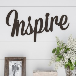 """Inspire"" Decorative Wall Sign Natures Brown - Lavish Home"