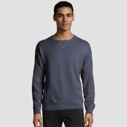 Hanes Men's Comfort Wash Fleece Sweatshirt - Slate M, Size: Medium, Grey found on Bargain Bro India from target for $18.59