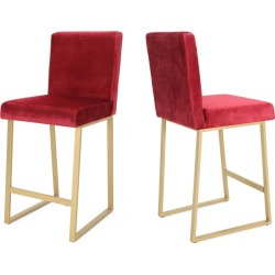 Set of 2 Toucanet Modern Counterstool Wine/Brass - Christopher Knight Home, Red/Brass found on Bargain Bro Philippines from target for $167.24