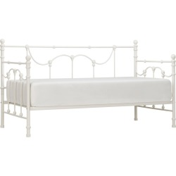 Livingston Metal Bed - Twin - Antique White - Inspire Q