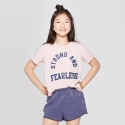 petiteGirls' Graphic Short Sleeve Swing Body T-Shirt - art class Pink XL, Girl's