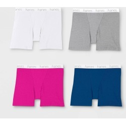 Hanes Premium Women's 4pk Cotton Long Leg with Comfortsoft Waistband Boxer Briefs - Color May Vary M, Size: Medium, MultiColored found on Bargain Bro Philippines from target for $17.99