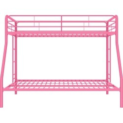 Twin Over Full Bunk Bed Pink - Dorel Home Products