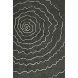 Gray Swirl Tufted Area Rug 5'X7'6