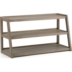 Hawkins Solid Wood TV Media Stand Distressed Gray For TVs up to 50