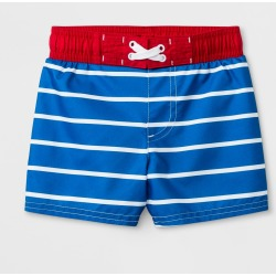 Baby Boys' Striped Swim Trunks - Cat & Jack Blue 12M, Boy's