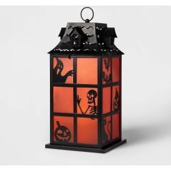 Halloween Ghost/Skeleton/Pumpkin Silhouette Metal Lantern Halloween Decoration - Hyde & EEK! Boutique