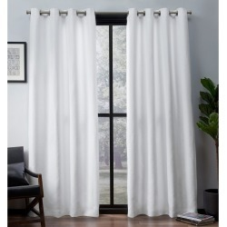 Leeds Woven Blackout curtain panels Winter 52x96 - Exclusive Home, White found on Bargain Bro India from target for $74.99