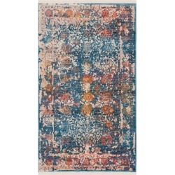 3'X5' Shapes Loomed Accent Rug Turquoise - Safavieh, Turquoise/Multi-Colored found on Bargain Bro Philippines from target for $90.99