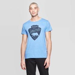 petiteMen's Short Sleeve Crewneck Nor Cal Roam Yosemite Graphic T-Shirt - Awake Blue XL