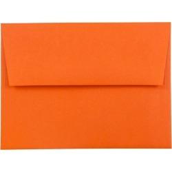 JAM Paper Brite Hue A2 Envelopes 4 3/8 X 5 3/4 50 per pack Orange, Orange Smoothie