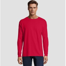 Hanes Men's Long Sleeve Beefy T-Shirt - Deep Red M, Size: Medium found on Bargain Bro India from target for $7.99