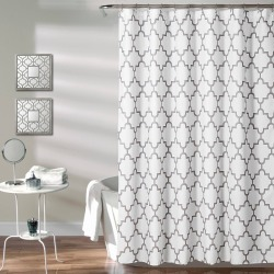 Lush Decor Geometric Shower Curtain Gray found on Bargain Bro India from target for $22.99
