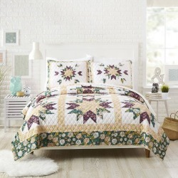 Bonnie Christine for Makers Collective Full/Queen 3pc Foraged Flora Quilt & Sham Set Green found on Bargain Bro India from target for $109.99