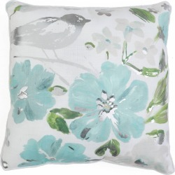 Cornelia Floral Pillow Blue - Décor Therapy