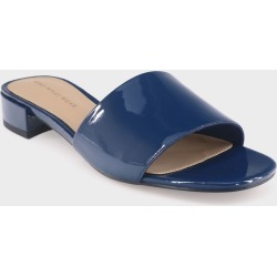 Women's Mae Patent Heeled Slide Sandals - Who What Wear Blue 7