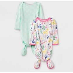 Baby Girls 2pk Wildflower Nightgowns Cloud Island Newborn Girls Pink
