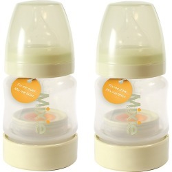 Mixie Baby 2pk 4oz Bottles, Clear
