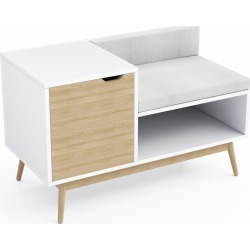 Blythe Sectional Storage Bench White/Natural - Jamesdar found on Bargain Bro Philippines from target for $272.99