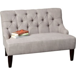 Nicole Fabric Settee - Gray - Christopher Knight Home