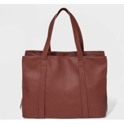 Triple Compartment Tote Handbag - Universal Thread Burgundy, Women's, Red