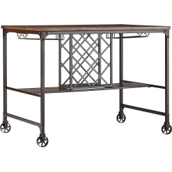 Mason Mixed Media Counter Height Table with Wine Storage - Brown - Inspire Q found on Bargain Bro India from target for $318.99