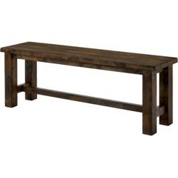 "52"" Sims Wood Bench Rustic Oak - Sun & Pine, Gray"