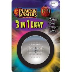 Halloween Pumpkin Masters 3-in-1 Halloween Light, Black