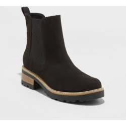 Women's Khalea Microsuede Water Repellent Chelsea Booties - Universal Thread Black 6.5 found on Bargain Bro Philippines from target for $37.99