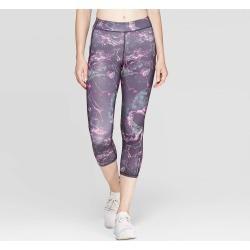 Women's Running Marble Print Mid-Rise Capri Leggings 20