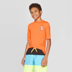 petiteBoys' Short Sleeve Rash Guard - Cat & Jack Orange XS, Boy's found on Bargain Bro Philippines from target for $12.99