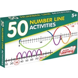 Junior Learning 50 Number Line Activities Learning Set