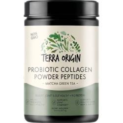 Terra Origin Probiotic Collagen Powder Peptides Matcha Green Tea - 10.14oz, Adult Unisex