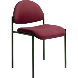 Armless Stacking Chair - Burgundy (Red) - Boss found on Bargain Bro India from target for $55.99