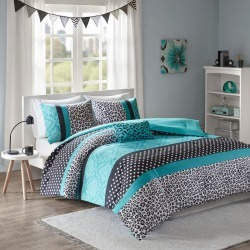 Christa Comforter Set (Twin/Twin Extra Long) Teal - 3pc, Blue found on Bargain Bro India from target for $49.99