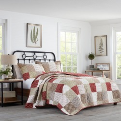 King Rivington Quilt Set Beige - Stone Cottage, Red found on Bargain Bro India from target for $85.99