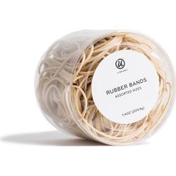 UBrands Rubber Bands Assorted Size 7.4oz, Brown
