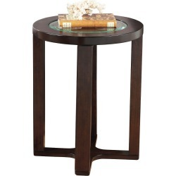 Marion Round End Table Dark Brown - Signature Design by Ashley found on Bargain Bro India from target for $112.79