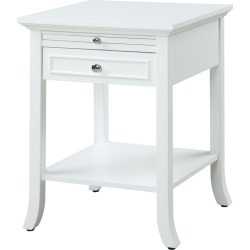 American Heritage Logan End Table with Drawer and Slide White - Johar Furniture found on Bargain Bro Philippines from target for $116.99