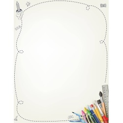 80ct School Supplies Letterhead Ivory, White