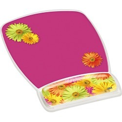 3M Fun Design Clear Gel Mouse Pad Wrist Rest, 6 4/5 x 8 3/5 x 3/4, Daisy Design, Pink found on Bargain Bro India from target for $13.69