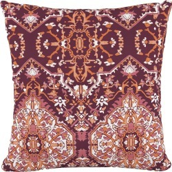 In Tabriz Polyester Square Pillow Plum - Cloth & Co.