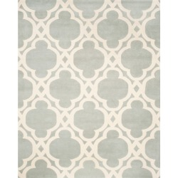 8'X10' Quatrefoil Design Tufted Area Rug Gray/Ivory - Safavieh found on Bargain Bro Philippines from target for $503.99