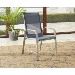 Paloma 6pc Steel & Sling Motion Patio Dining Chairs - Blue/Gray - Cosco Outdoor Living