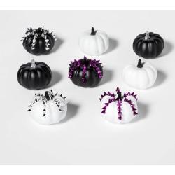 Halloween 8ct Mini Studded Painted Halloween Pumpkin - Hyde & EEK! Boutique