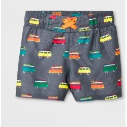 Baby Boys' Van Swim Trunks - Cat & Jack Gray 9M, Boy's