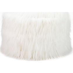 Jasper Storage Pouf with Himalaya Faux Fur White - Mimish