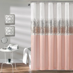 Night Sky Shower Curtain Blush Pink/White - Lush Decor found on Bargain Bro India from target for $29.44
