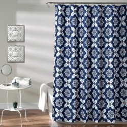 Lush Decor Medallion Shower Curtain Navy, Blue found on Bargain Bro India from target for $19.94